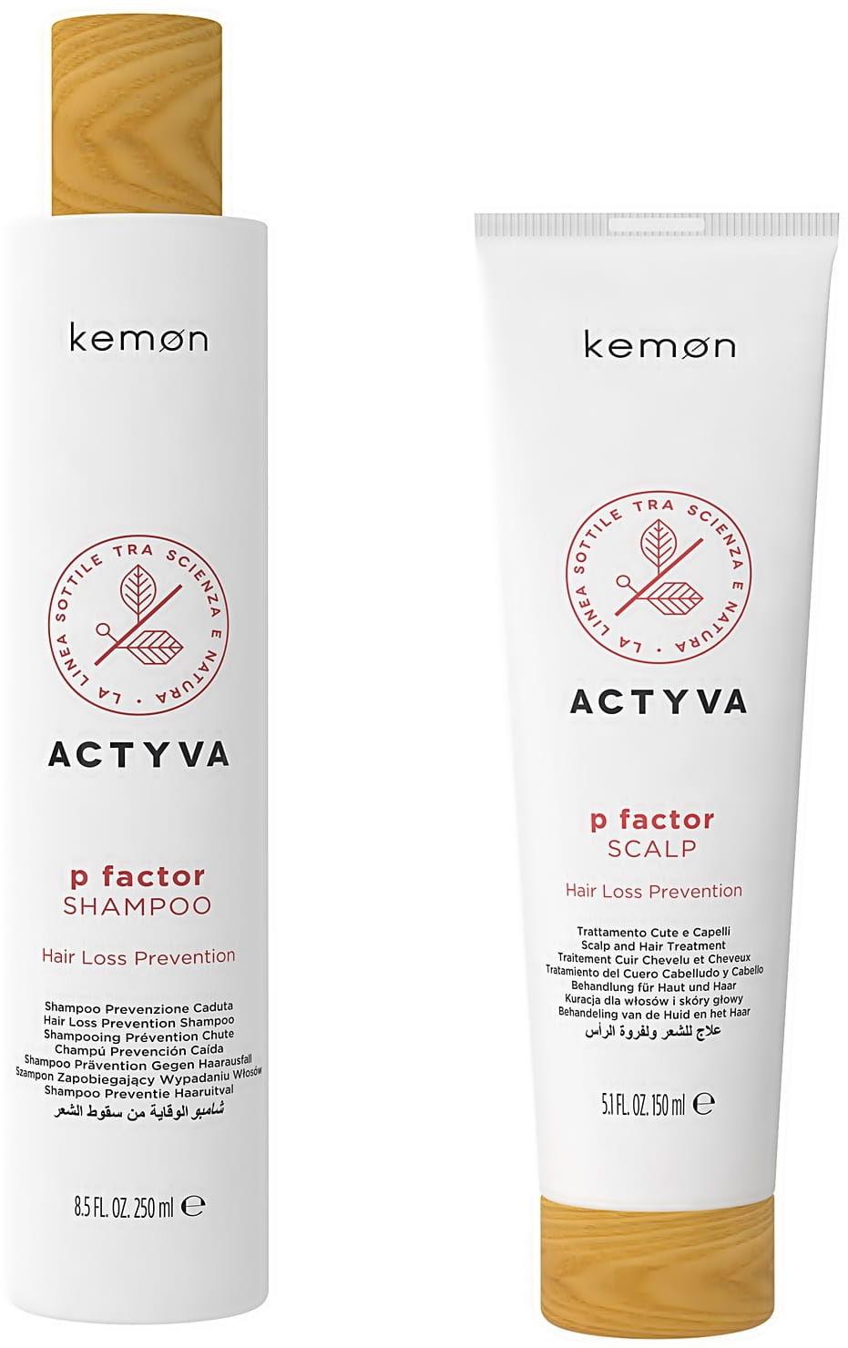 Kemon Actyva P Factor zestaw szampon 250ml + odżywka 150ml