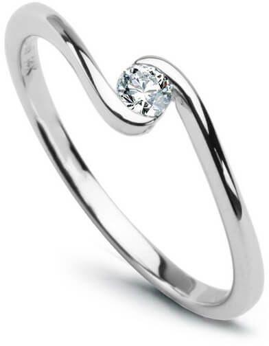 Złoty pierścionek PBD1411 - Diament
