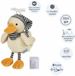 Sterntaler 6351824 Chilling Box Edda (DE 34407560), cyfrowa pozytywka, w zestawie głośnik Bluetooth i kabel USB, wiek: dzieci od narodzin, 20x16x10 cm, biały