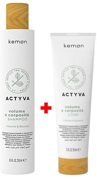 Kemon Actyva Volume E zestaw szampon 250ml + odżywka 150ml