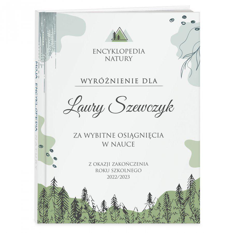 Encyklopedia natury z nadrukiem dla dziewczynki jako nagroda