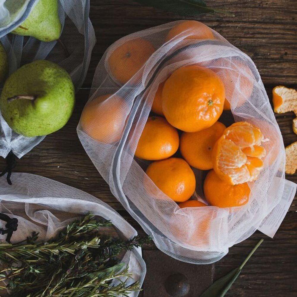 Woreczki / torby wielorazowe na owoce i warzywa 8 szt. Onya - chili