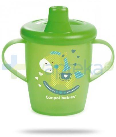 Canpol Babies Haberman dla canpol babies kubek niekapek dla dzieci 9m+ zielony konik 250 ml [31/200]