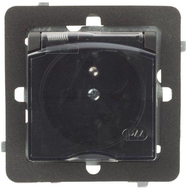 Gniazdo hermetyczne Rosa IP44 czarne