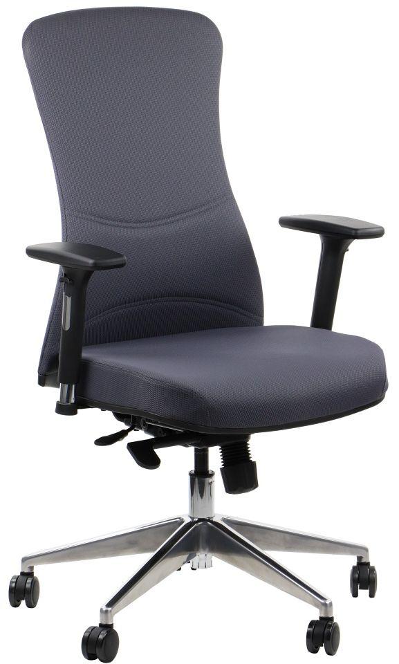 Fotel biurowy KENTON ALU szary komputerowy do biurka  KUP TERAZ - OTRZYMAJ RABAT
