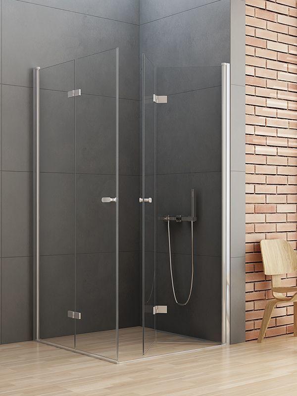 Kabina prysznicowa kwadratowa New Trendy Gold NEW SOLEO 70x70, wys. 195 cm, szkło czyste 6mm D-0147A/D-0151A