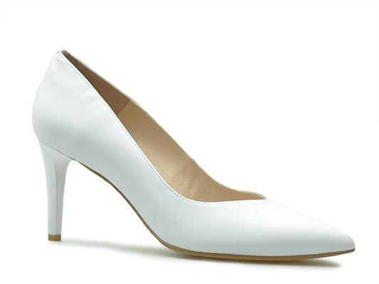Czółenka Emis S6047/802 Białe perła