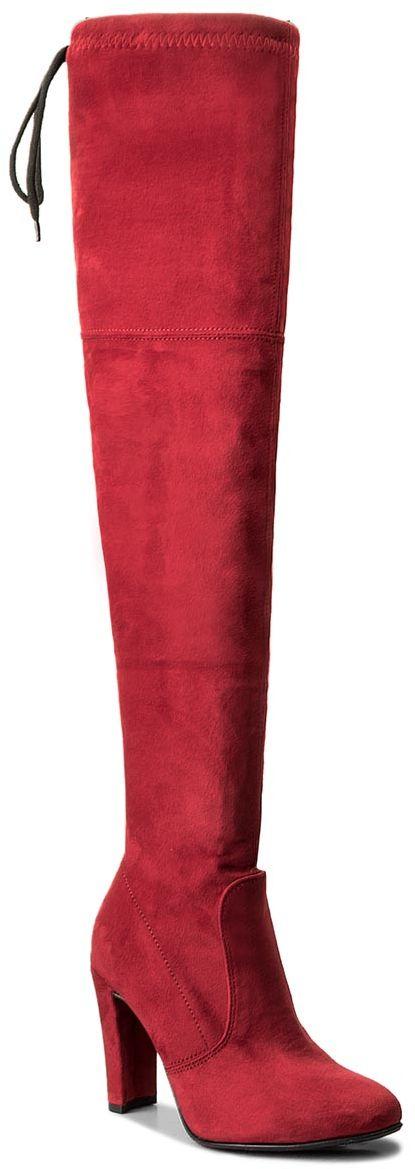 Muszkieterki R.POLAŃSKI - 0761 Czerwony Zamsz
