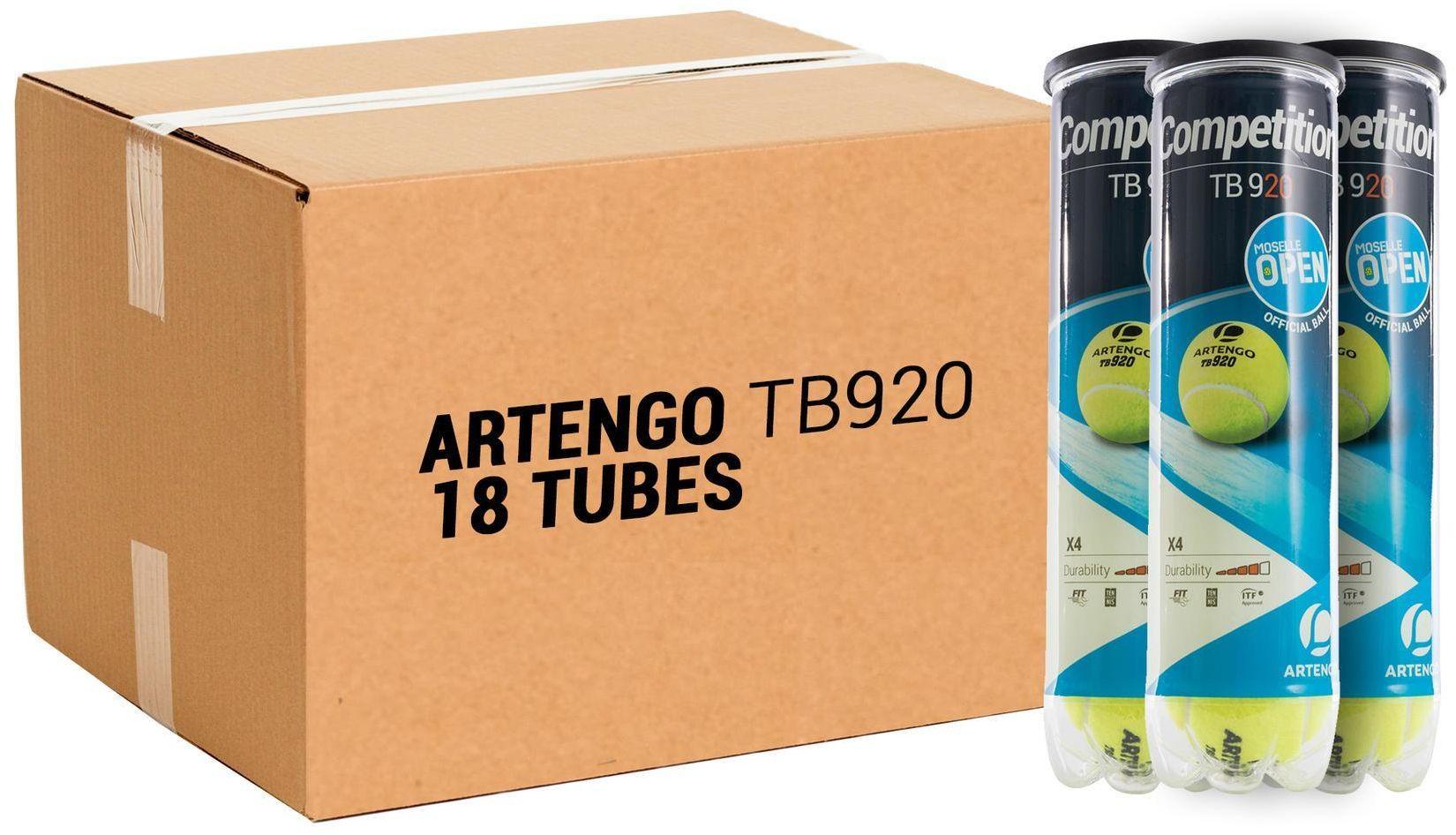 Piłka tenisowa Artengo TB920 18 puszek po 4 piłki