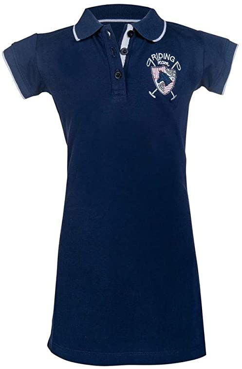 HKM Riding Team koszulka polo, niebieska 140/146