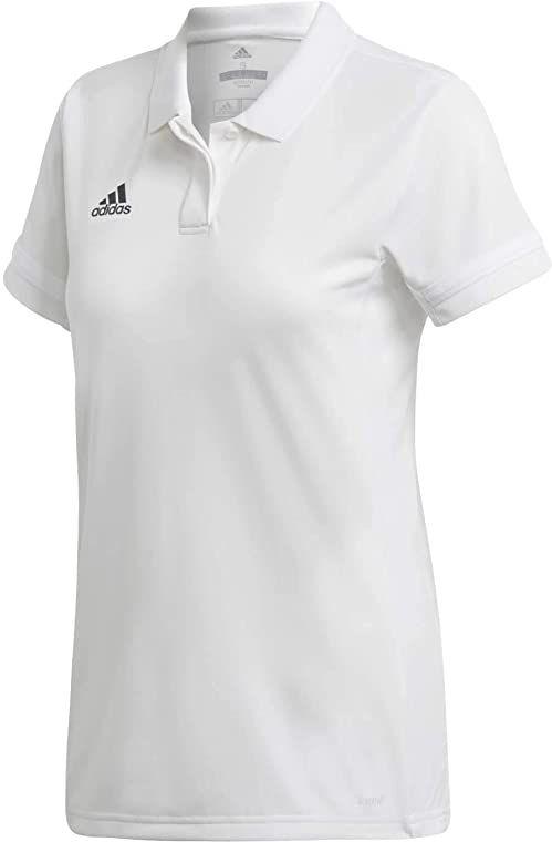 adidas Damska koszulka polo T19 czerwony biały XL
