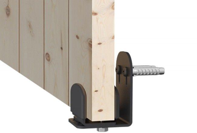 Prowadnik metalowy drzwi do systemu Mantion Roc Design, czarny mat