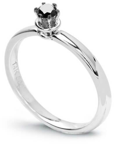 Złoty pierścionek - Diament czarny