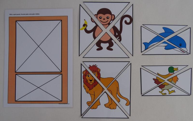 Zwierzęta- puzzle