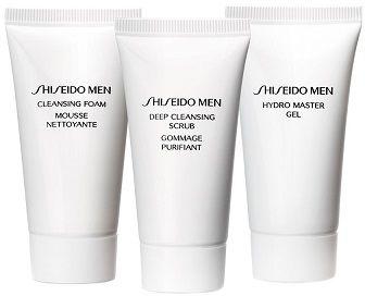Shiseido Men Zestaw pianka do twarzy 30ml + peeling do twarzy 30ml + żel do twarzy - 30ml