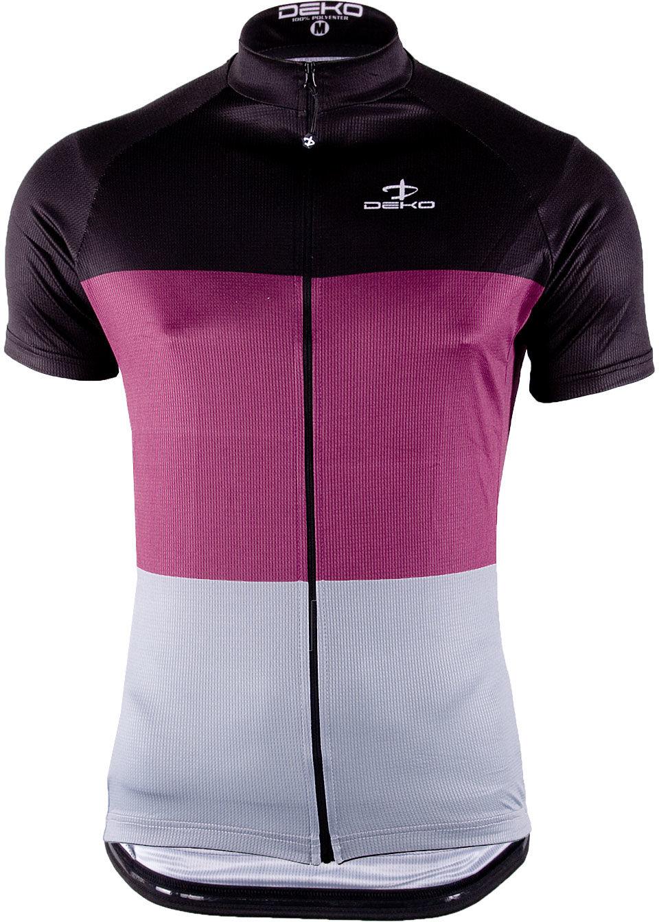 DEKO męska koszulka rowerowa krótki rękaw Bordowy MNK-002-03 Rozmiar: L,deko-mnk-002-03-burg
