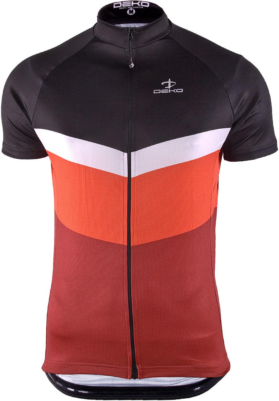 DEKO męska koszulka rowerowa krótki rękaw Pomarańcz MNK-002-05 Rozmiar: L,MNK-002-05