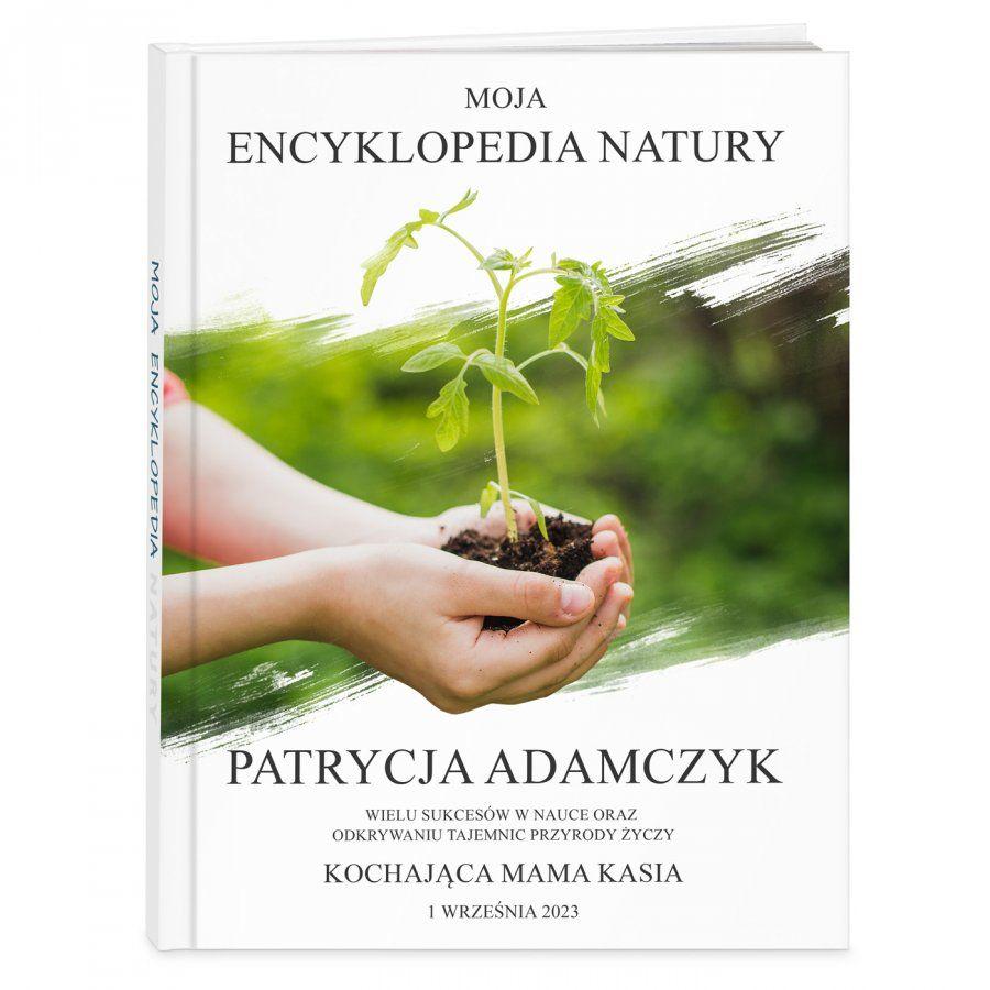 Encyklopedia natury z nadrukiem dla dziewczynki na rozpoczęcie roku