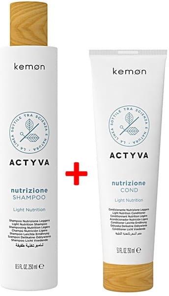Kemon Actyva Nutrizione Light zestaw szampon 250ml + odżywka 150ml