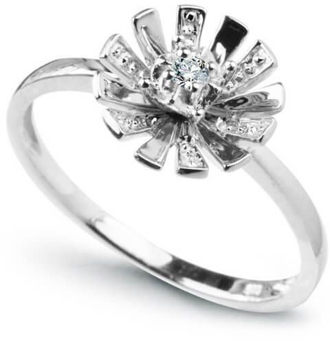 Złoty pierścionek PBD1876 - Diament