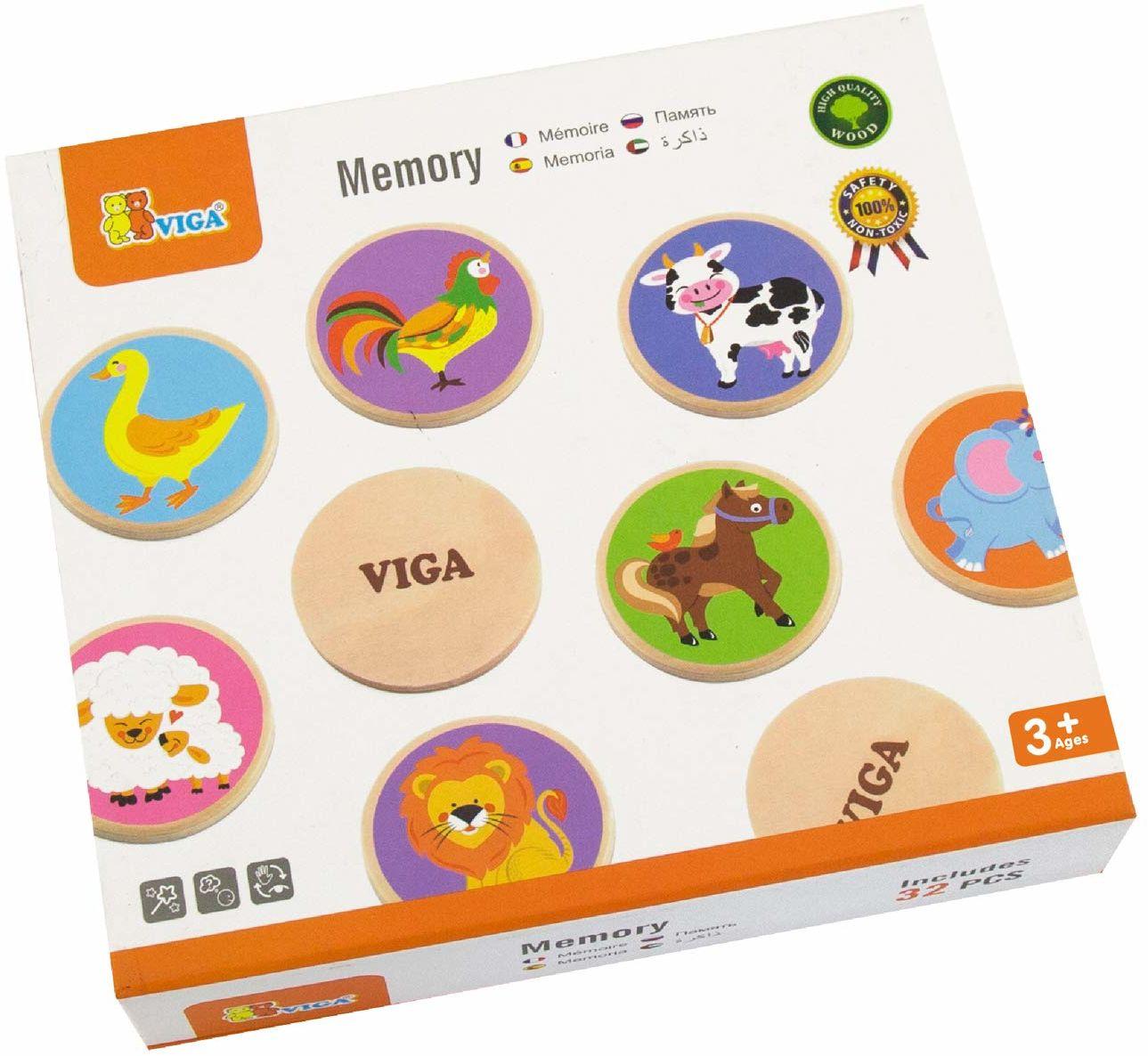 VIGA 51308 Memory, motywy zwierzęce, wielokolorowy