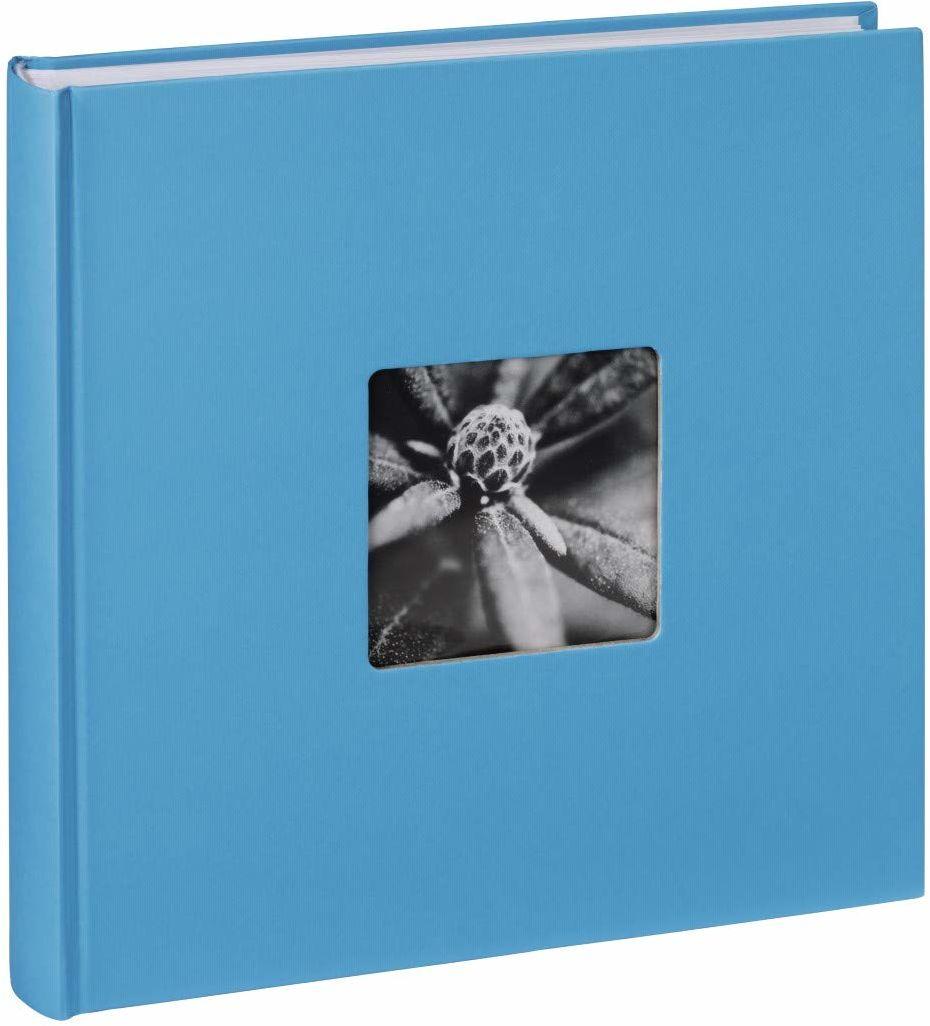 Hama Album fotograficzny Jumbo 30 x 30 cm (album ze 100 białymi stronami, album na 400 zdjęć do samodzielnego ozdobienia i wklejania), jasnoniebieski