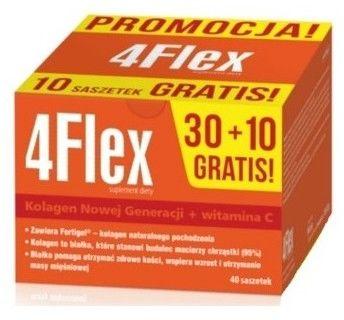 4Flex Kolagen Fortigel+ witamina C 30 saszetek (+10 gratis)