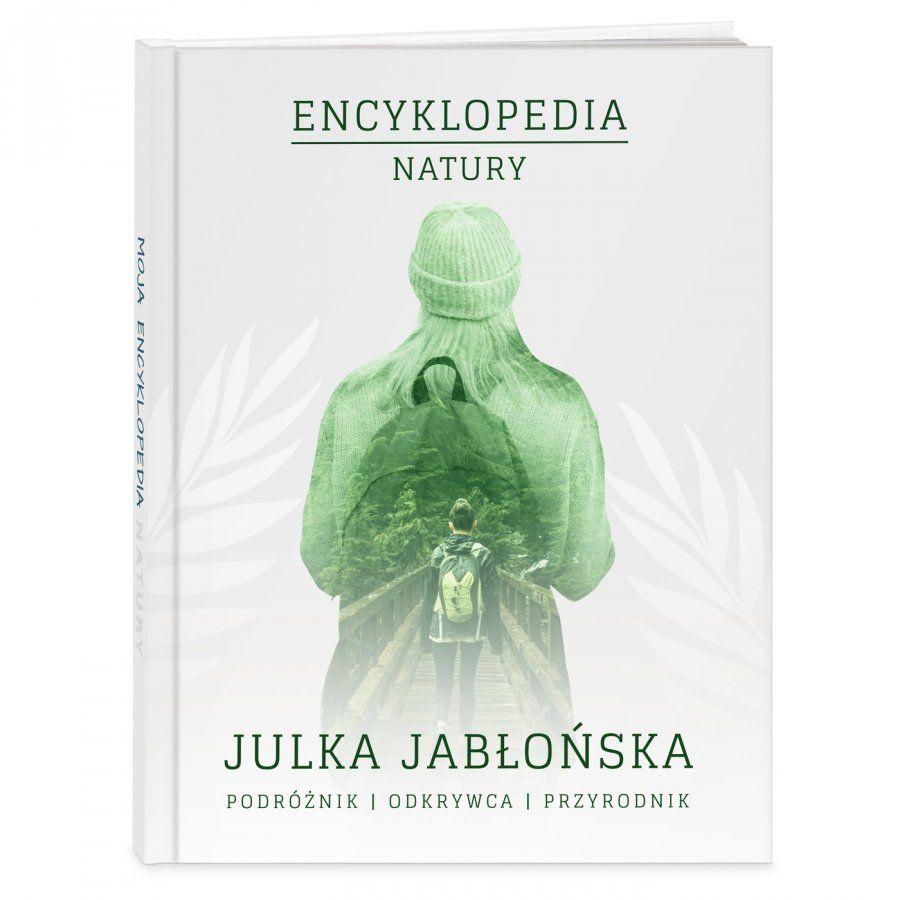 Encyklopedia natury z nadrukiem dla dziewczynki podróżnika