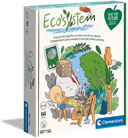 Clementoni - 16574  ekosystem, gry planszowe dla dzieci  gry dla rodzin  gry towarzyskie  gry na prezent dla dzieci 10 lat  zabawka przyjazna dla środowiska  Play for Future  Made in Italy
