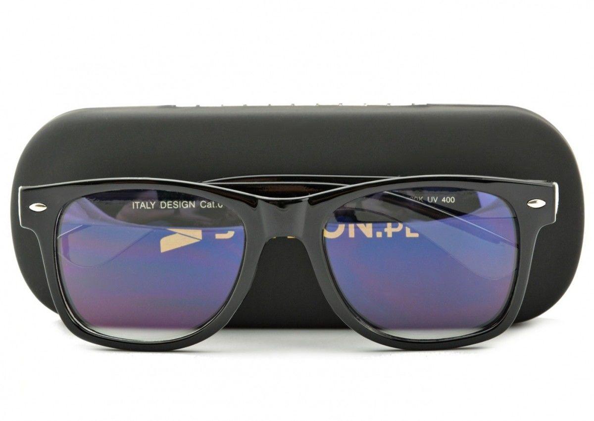 Okulary Nerd z filtrem światła niebieskiego do komputera zerówki R-BL-1580K