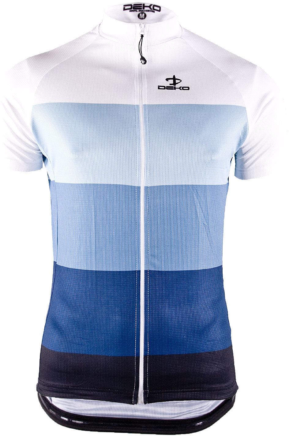DEKO męska koszulka rowerowa krótki rękaw Niebieska MNK-002-04 Rozmiar: 2XL,MNK-002-04