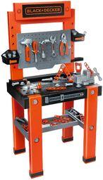 Smoby 360700 Black & Decker ''The One'' dziecięcy stół warsztatowy i narzędzia Niesamowity kompletny stół warsztatowy z 8 narzędziami, nakrętkami, śrubami i drewnianymi Wiek 3+