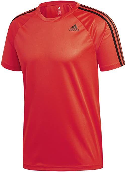 adidas Męska koszulka polo D2m z 3 paskami czerwony wielokolorowy XS