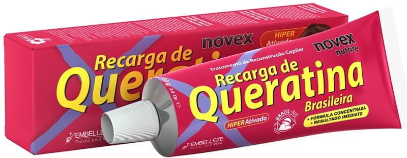 NOVEX Brazilian Recharge Keratin brazylijska keratyna krem do stylizacji 80g