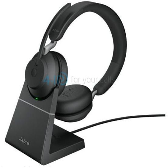 Jabra Evolve2 65 duo MS ze stojakiem bezprzewodowa słuchawka Bluetooth USB