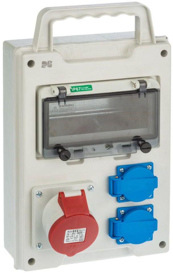 Rozdzielnica elektryczna bez wyposażenia RS 1 / 8 6216 - 00 / 2 X 2P + Z 3P + N + Z BS ELEKTRO-PLAST