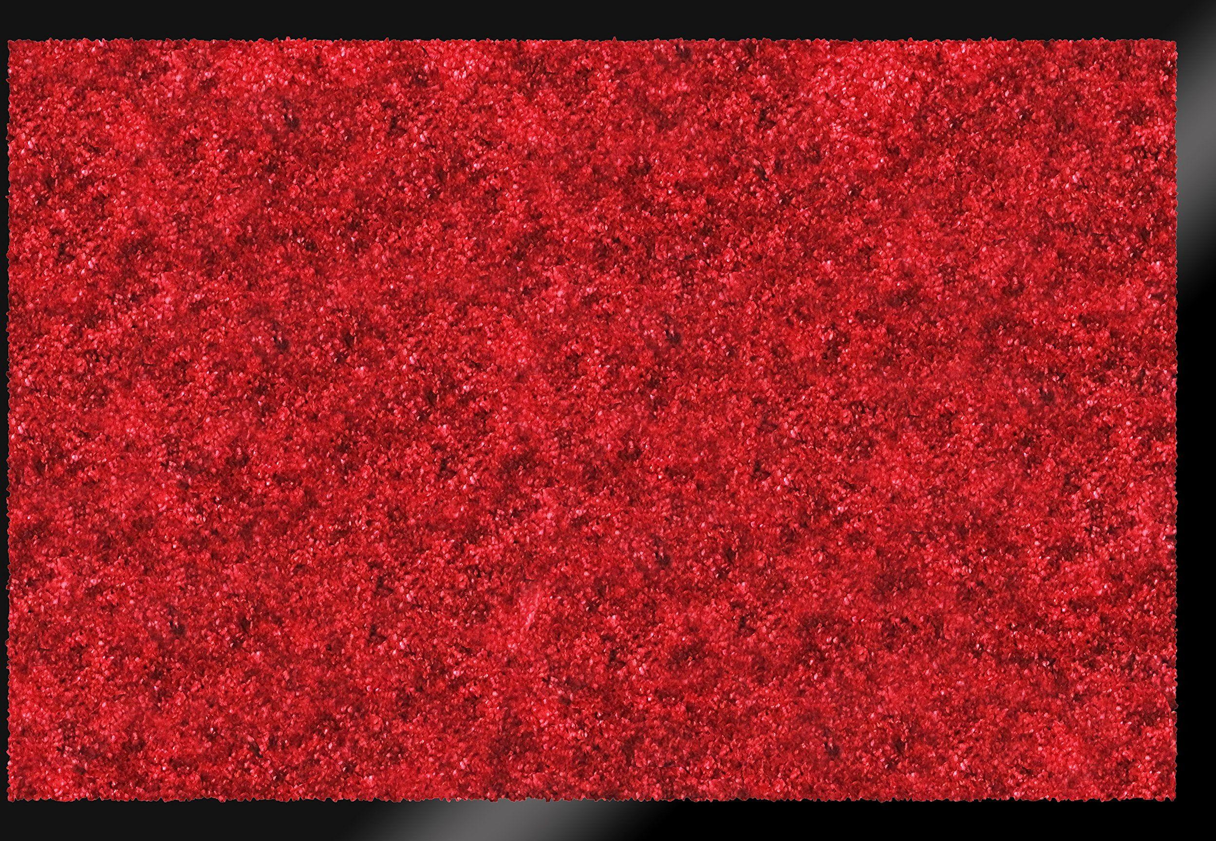 ID mat t miękki, włókna syntetyczne, czerwony, 40 x 60 x 0,9 cm