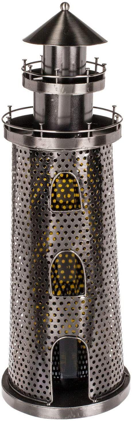 Out of the Blue 71/3188 - uchwyt na butelki z metalu, latarnia morska, ok. 25 x 14 cm, idealny jako dekoracja i opakowanie na prezent
