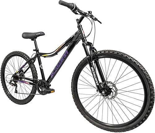 Schwinn Surge rower górski dla dorosłych, koła 66 cm, damska rama ze stopu 17 cali, 7 prędkości, hamulce tarczowe, czarny