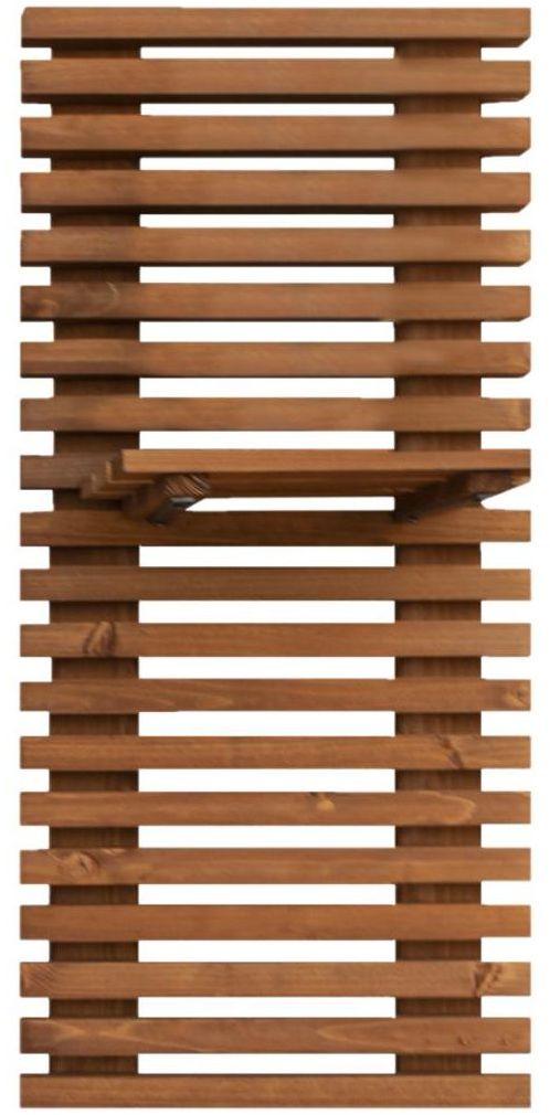 Kratka z półką na donicę 90 x 6.5 x 40 cm drewniana WERTH-HOLZ