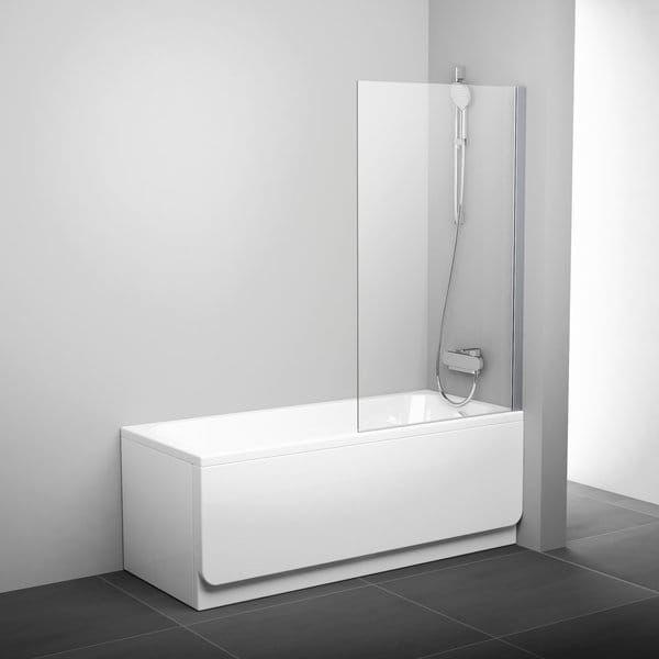RAVAK ścianka wannowa PVS1 -80 cm Polerowane aluminium + Transparent 79840C00Z1