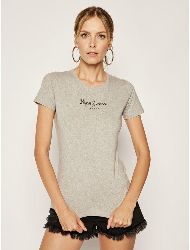 Pepe Jeans T-Shirt PL502711 Szary Slim Fit