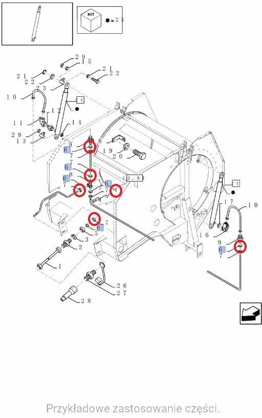 Kruciec Pierścień zacinający New Holland CASE CNH 335136