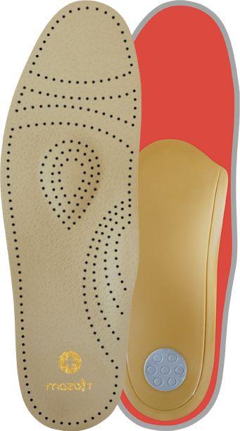 AMORTYZOWANE wkładki ortopedyczne na płaskostopie z podparciem łuku poprzecznego i podłużnego stopy (perfect plus)