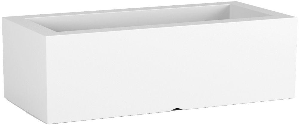 Donica z polietylenu OFFICE POT M biały