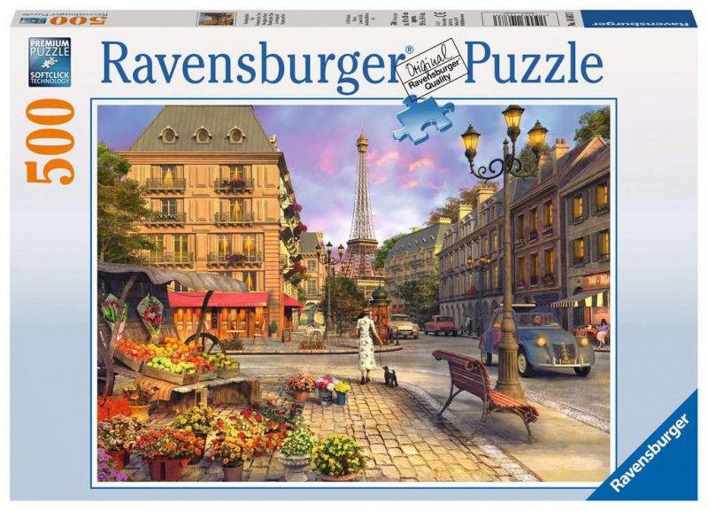 Puzzle 500 elementów Spacer po Paryżu