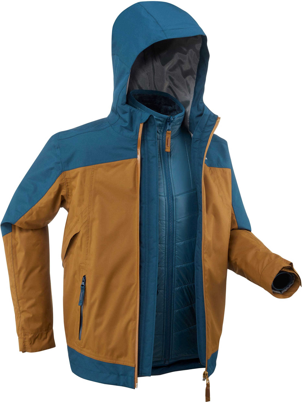 Kurtka turystyczna 3w1 dla dzieci Quechua SH500 X-Warm -16 C
