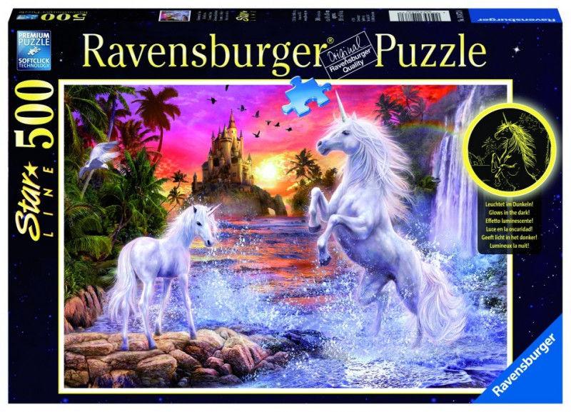 Puzzle 500 elementów Jednorożce nad rzeką