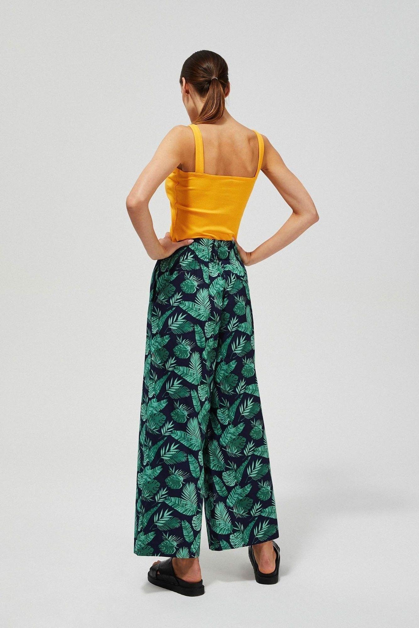 Szerokie spodnie z nadrukiem