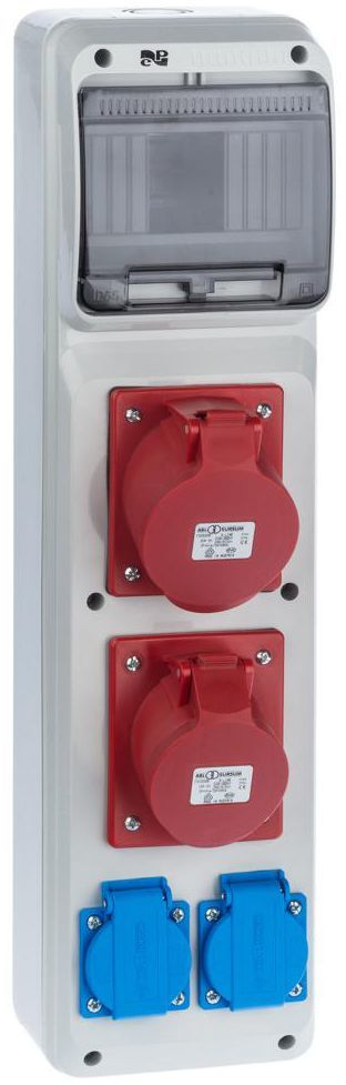 Rozdzielnica elektryczna bez wyposażenia RS 1 / 6 6240 - 00 / 2 X 2P + Z 2 X 3P + N + Z 16 / 32 ELEKTRO-PLAST